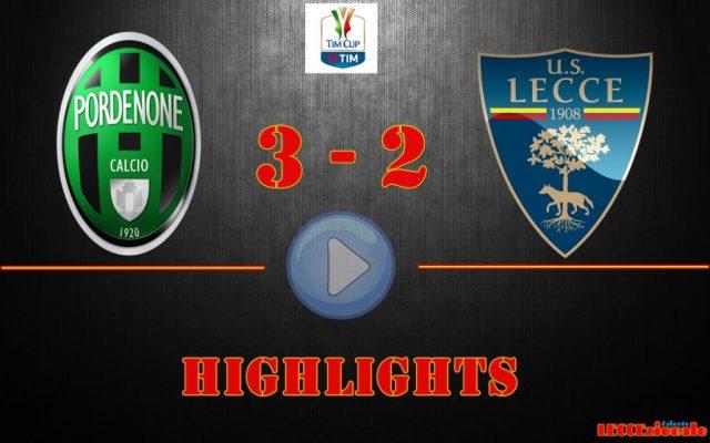 Pordenone-Lecce 2-3, gli highlights