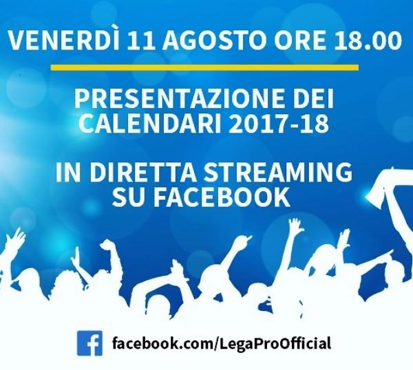 Serie C: in diretta facebook i calendari