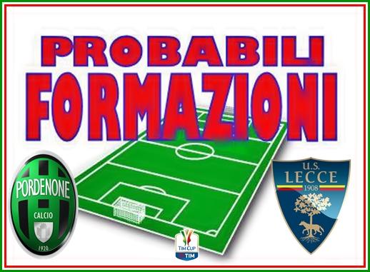 Pordenone-Lecce, le probabili formazioni