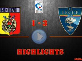 Catanzaro-Lecce 1-3, gli highlights