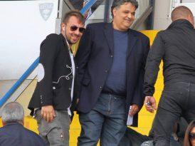 """Antonio Tesoro e Gino Dimitri in tribuna al """"Via del Mare"""""""