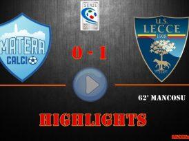 Matera-Lecce 0-1, gli highlights