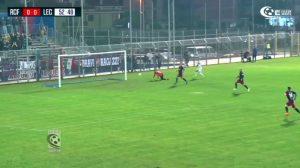 gol fallito da Di Piazza a Fondi - highlights Racing Fondi-Lecce 0-0