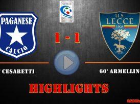 Paganese-Lecce 1-1, gli highlights