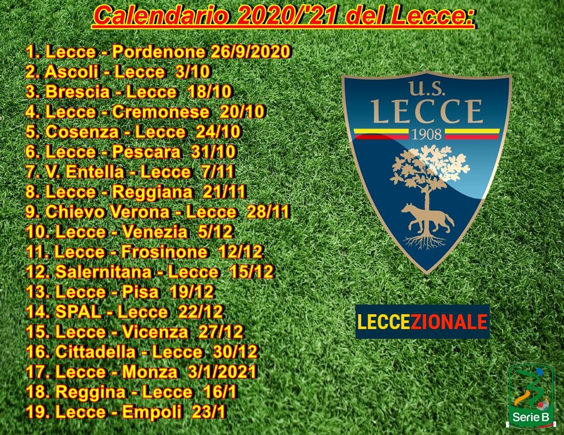 Lecce Calendario 2021 Il calendario del Lecce giornata per giornata | Leccezionale Salento
